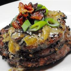 Filet Mignon with Bacon Cream Sauce-paleo Bacon Cream Sauce Recipe, Steak Recipes, Cooking Recipes, Hamburger Recipes, Bacon Recipes, Vegetarian Cooking, Yummy Recipes, Grilled Beef Tenderloin, Grilled Steaks