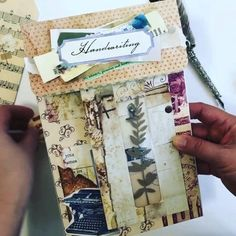 Diy Paper, Paper Crafts, Bullet Journal Lettering Ideas, Paper Products, Handmade Journals, File Folder, Mail Art, Book Making, Junk Journal