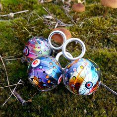 Gift Idea For Christmas: Hand Blown Glass Pendant w Rainbow Effect |One Of A Kind |Lampwork | Available Through Etsy |Melanie Moertel https://www.etsy.com/shop/melaniemoertel?ref=hdr_shop_menu 125,00 €