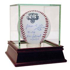 Bernie Williams Signed Retirement Logo Official Baseball w/ '91-06 , #51 5/24/15' Insc.