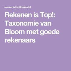 Rekenen is Top!: Taxonomie van Bloom met goede rekenaars