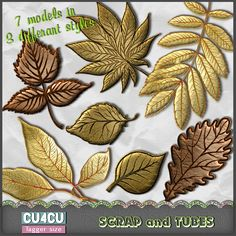 ► FREEBIE : Autumn Leaves 3 (TS/CU4CU) ◄ Tagger size elements (72dpi/png) • 7 leaves with 3 different styles for a total of 21 • CU4CU/Commercial Use • PTU now FREE ► More infos and download page link here: http://scrapandtubes.blogspot.com/2014/10/freebie-autumn-leaves-3-tscu4cu.html