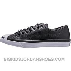 7bd52cf68b72d8 Converse Jack Purcell Tumbled Leather (Mens) - Black White