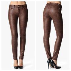 #ebay NWT 7 For All Mankind Seamed Leather Like Skinny, Crackle Wine, Size 30 #7ForAllMankind #SlimSkinny #ebaysale #forsale