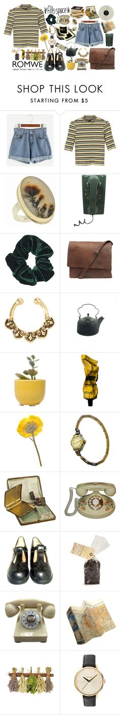 """""""in which yellow and brown goes together"""" by elle01-1 ❤ liked on Polyvore featuring Monki, Jamie Joseph, Topshop, Dot & Bo, Aesop, Elgin, Alexis Bittar and Nixon"""
