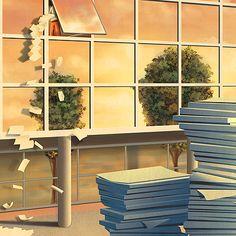 Paperless Office Editorial Illustration - Jay Montgomery - Illustrator, Graphic Designer, Atlanta, GAJay Montgomery – Illustrator, Graphic Designer, Atlanta, GA