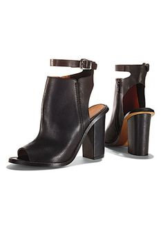 ankle-strap leather booties