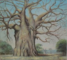 A Huge Baobab Tree in Africa by Colleen Daniel Acrilic Paintings, Art Paintings, Crayons Pastel, Baobab Seeds, Africa Painting, Baobab Tree, Roots And Wings, Tree Illustration, Watercolor Trees