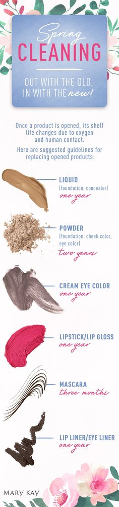 We're spring cleaning our makeup bag! From foundation to mascara, here's when you should replace your favorite beauty products. | Mary Kay