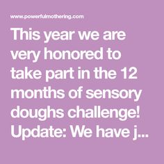 This year we are very honored to take part in the 12 months of sensory doughs challenge! Update: We have just started our 2nd year! Stick around for some more awesome recipes. Be sure to follow by email and pin this to come back to it. This article contains affiliate links which means at no ... Read More about 12 Sensory Doughs – All Taste Safe!