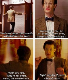 Walls! (from Doctor Who & the Tardis by Craig Hurle)