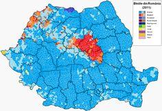 Ethnic map of Romania (Europe, Romania) Turkic Languages, Semitic Languages, Golden Horde, Blue Green Eyes, Indian Language, Sumerian, Cartography, Rugs On Carpet, Ethnic