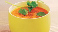 Crème de carottes, cumin et coriandre.
