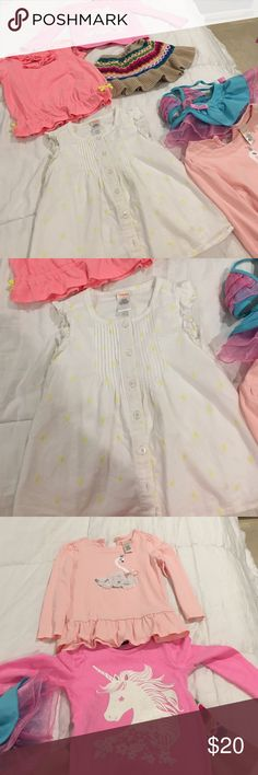 6 pieces girls clothes on SALE Two long sleeves tops, two shirts, bikini and the skirt (skirt size 18-24 months but my daughter used it until she was 4truns big) all clothes from Gymboree Exellent condition Gymboree Shirts & Tops Tees - Long Sleeve