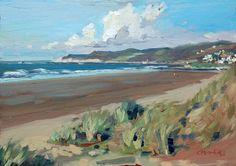 """ Warm November "" oil painting by Devon artist Steve PP http://www.stevepp.co.uk/index.php?showimage=78"