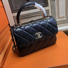 50d61c26ea46 Chanel Small Trendy CC Top Handle Bag Quilted Lambskin. Bella Vita Moda