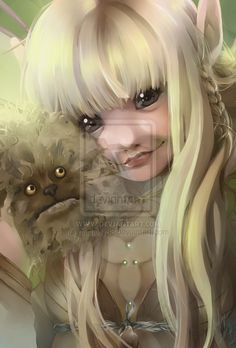 Kira and Fizzgig from The Dark Crystal by ~mishelly88 on deviantART so pretty!!