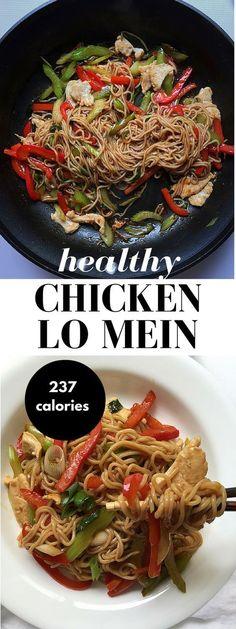 Easy Healthy Chicken Lo Mein