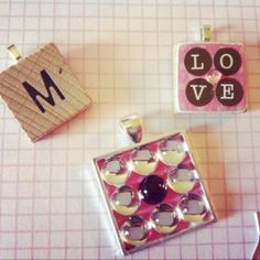 Scrabble tile jewelry necklaces