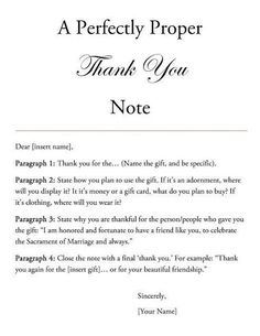 A Perfectly Proper 'Thank You' Note. We Southerners write thank-you notes for everything.