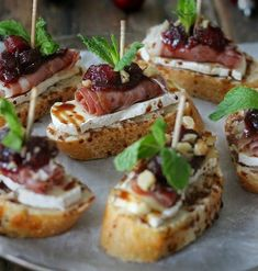 Italian bread, brie cheese, parma ham, reduced balsamic cranberry compote.