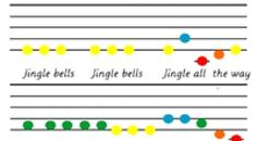 Jingle Bells Music – Colour coded | MontessoriSoul