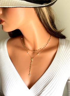 I bet Yolanda Foster would love this rosary necklace! Labradorite Rosary Necklace 14kt Goldfilled by divinitycollection, $120.00