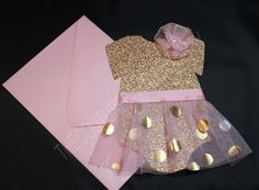 Pink and Gold Tutu 1st Birthday Invite  by TheCoutureInviteDiva