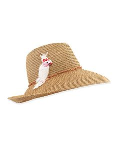 D0TJ8 Eugenia Kim Emmanuelle Hat with Cockatoo