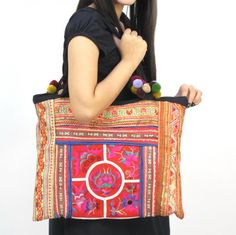 http://www.artfire.com/ext/shop/studio/bohemiantouch  One Of A Kind  EMBROIDERY ETHNIC BOHO BAG TOTE WOMEN VINTAGE