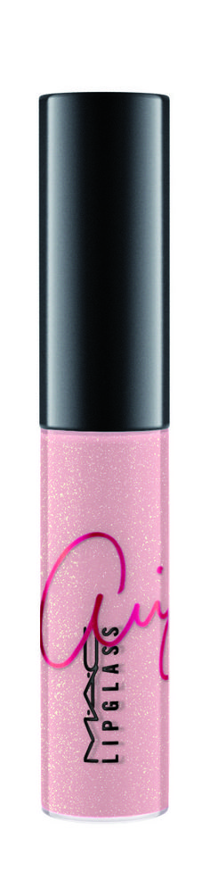 And the lip gloss is this sparkly ~cotton candy~ pink. | Ariana Grande Is MAC's Newest Spokesperson