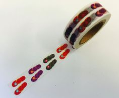 Summer Fun Flip Flops Paper Washi Tape by PlayingWithColor2