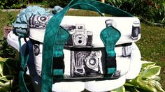 Camera Bag, Black and White Camera Fabric, Swoon Camille Camera Bag, Large Vintage Style, Custom Made to Order by DesignsbyDecember on Etsy https://www.etsy.com/listing/236876761/camera-bag-black-and-white-camera-fabric