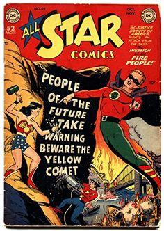 All Star Comics #49 1949 Flash. Green Lantern. Wonder Woman. DC. @ niftywarehouse.com