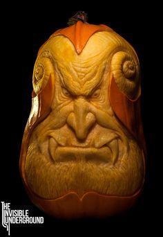 ❀⊱╮Watermelon Carving / Food Art / Fruit Art / food carving / Oni - pumpkin sculpture by Shawn Feeney