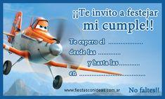 CLICK aquí para imprimir la Invitación de Planes Planes Birthday, Birthday Party Themes, Airplane Party, Ideas Para Fiestas, Hair Designs, Party Invitations, Baby Shower, Kids, Crafts