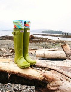 SLUGS Fleece Rain Boot Liners Turquoise with a Neon Wavy Bright Cuff, Welly Warmers, Gear For Adventures, Outdoor Fun (SM/MED 6-8 Boot). $24.00, via Etsy.