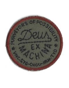 "DEUS EX MACHINA ""Purveyors of Possibility"" vintage style DEUS patch - order motorcycle patches now at Motorcycle Patches, Motorcycle Outfit, Vintage Style, Vintage Fashion, Deus Ex Machina, Poster Wall, Dark Red, Men Shirts, Typo"