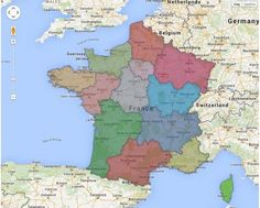 La carte des 13 régions francaises (2016)