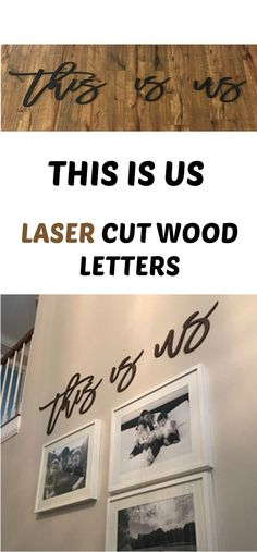 This is us, wood words, wood word cut out, laser cut #ad