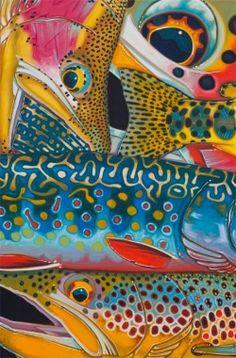 """Trout Confetti 4"" - Derek Deyoung  #flyfishing"