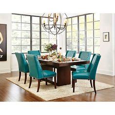Shop scottsdale dining bench alt0 house hold ideas for Teal dining room table