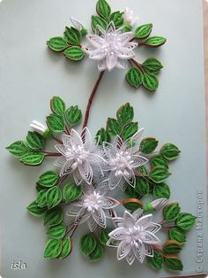 Картина, панно Квиллинг: Моя веточка экзотического дерева. Бумажные полосы День…