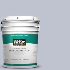 BEHR Premium Plus 5-gal. #S550-2 Powder Lilac Semi-Gloss Enamel Interior Paint