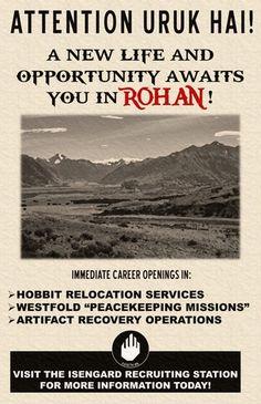 Uruk Hai Recruiting Poster : lotr