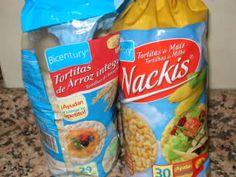 Tortas de maíz y de arroz.