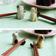 Get ceramics cat chopsticks holders set with reasonable price only at Crazycatshop, the reputed online gift store for cat lovers in USA. Chopstick Holder, Chopstick Rest, Online Gift Store, Online Gifts, Cat Lover Gifts, Cat Gifts, Super Cute Kittens, Paper Mache Sculpture, Ancient Jewelry