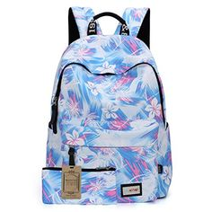 Forestfish Women's Cute Durable Casual Flowered Backpack ...