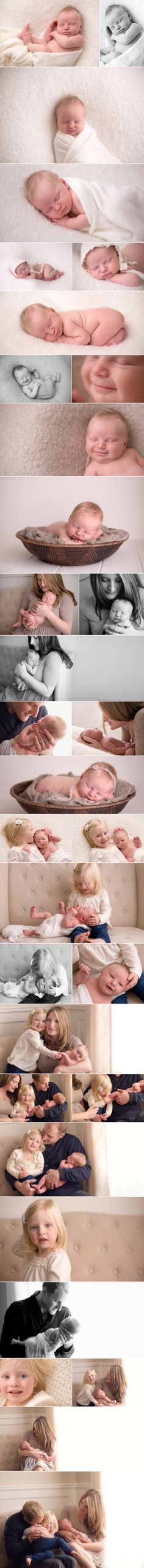 I LOVE these pictures of the family & newborn baby <3