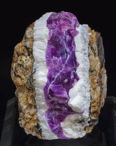 Cobaltoan Calcite with Calcite -  Solita Mine, Catalonia, Spain
